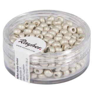 Metallic-Rocailles, matt, 4mm ø