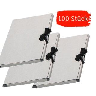 Bildersammelmappen unbedruckt mit Band 100 Stück, DIN A3