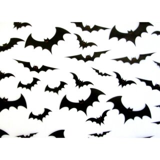 Halloween Transparentpapier, Fledermäuse, 50 x 70 cm