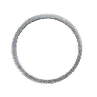 Schmuckring, Metall, flach, 25 mm ø, lose, silber