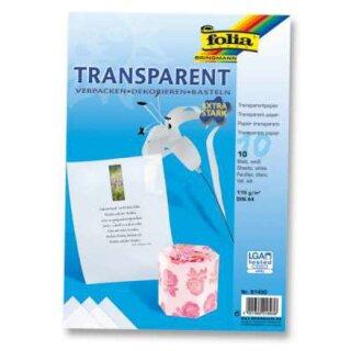 Transpartentpapier weiß, 10 Blatt, DIN A4, 115 g/qm extra stark