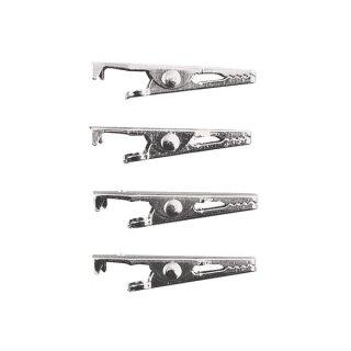 Krokodil-Klammer, 39 mm, SB-Btl. 4 Stück, platin