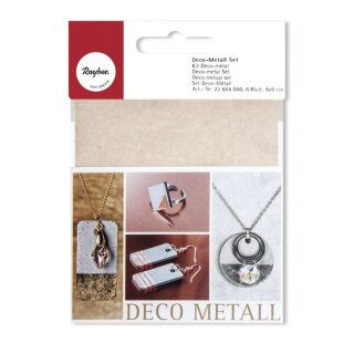 Deco-Metall Set, 9x9cm, kupfer/gold/silber, SB-Btl 6Blatt