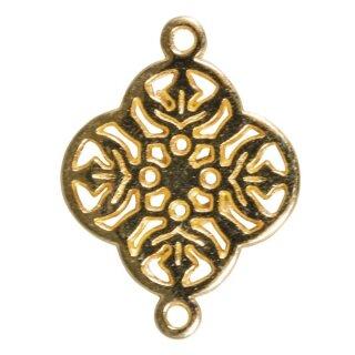 Metall-Zierlement Ornament Blume