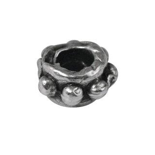 Metall- Radl, 6mm ø, Loch 1,5mm ø, SB-Btl 6Stück, altsilber