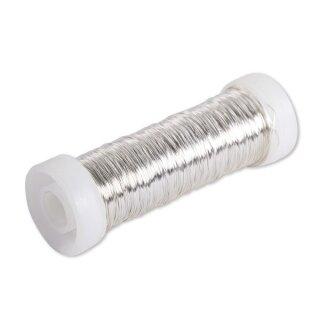 Silberdraht mit Kupferkern, 0,40mm ø, auf Spule, SB-Btl 40m