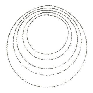 Metallringe aus gewelltem Flachdraht, 30 cm ø