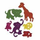 Crepla-Zoo, 6 Sorten, 3-8,5 cm, SB-Btl. 80 Stück,...
