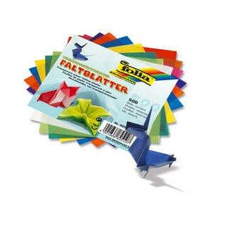 Faltblätter 15 x 15 cm 500 Blatt in 10 Farben sort. aus Transparentpapier, 42 g/qm