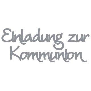 Klebeschrift  Einladung zur Kommunion