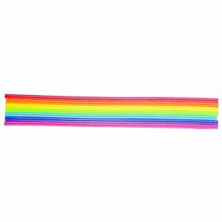Wachs-Zierstreifen Regenbogen, 2 mm, 23 cm, SB-Btl. 14 Stück
