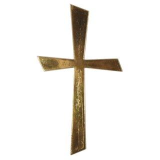 Wachs-Motiv Kreuz Gold, 10,5x5,5cm, SB-Btl 1Stück