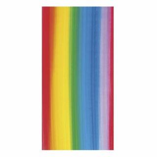 Wachsfolie-Regenbogen, 20x10cm, Längsstreifen, SB-Btl 1Stück, regenbogen