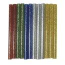 Glitter-Klebesticks f. Heißklebepistole, 10x0,75cm,...