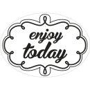 Label enjoy today, 55x40mm, oval, SB-Btl 1Stück
