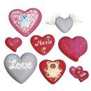 Gießform: Herzen, 8 Motive, 3,5-7cm, Größe: 23,2x18,3cm