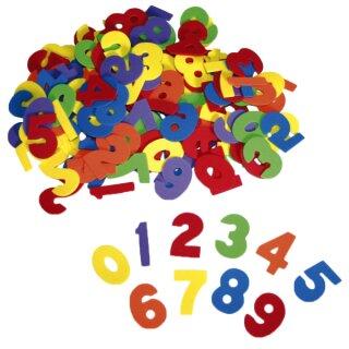 Moosgummi Große Zahlen, 4,5 - 5 cm groß, 150 Stück in 6 Farben von Eduplay