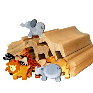 Profilholzstangen 6er Set Wildtiere 6 x 5 cm, L: 30 cm von Eduplay