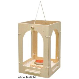 """Bausatz """"Holzlaterne"""" Fertiggröße ca. 12 x 12 x 20 cm von Eduplay"""