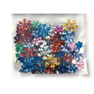Schmucksteine Blumen, ca. 200 Stück