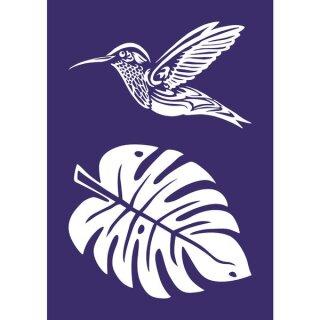 Schablone Kolibri, DIN A4, 1 Schabl. + Rakel, SB-Btl 1Stück