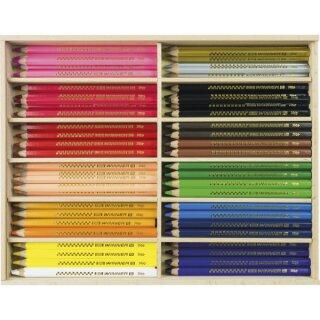 Big Winner Farbstifte 96 Farbstifte bunt sortiert in einer Holzbox