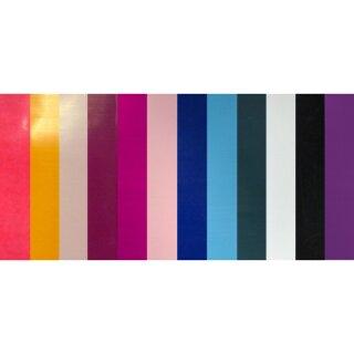 Modern Verzierwachsplatte 10 x 20 cm 12 Platten farbig sort.
