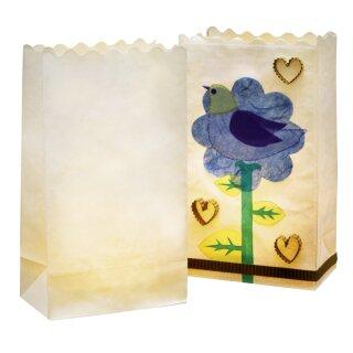 Lichttüten Blanko weiß 5 Stück, 24,5 x 14 x 8,5 cm