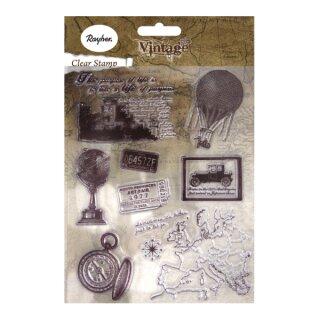 Clear Stamps - Vintage Zeitreise, ca. 2-8cm, SB-Btl