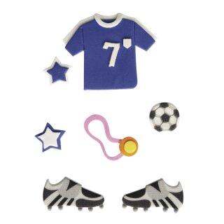 Deko-Sticker: Fußball, m. Klebepunkt, SB-Btl 7Stück