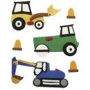 Deko-Sticker: Bagger/Traktor, m. Klebepunkt, SB-Btl...