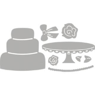 Stanzschablone: Wedding Cake, 5,9x7cm, SB-Btl 8Stück