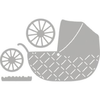 Stanzschablone: Baby Pram, 7,2x7,9cm, SB-Btl 4Stück