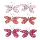 Deko-Sticker: Papier-Schmetterlinge