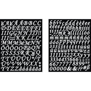 Sticker Alphabet + Zahlen Kursiv