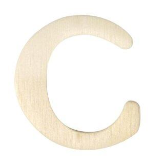 Holz-Buchstaben, 4 cm, C