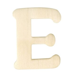Holz-Buchstaben, 4 cm, E