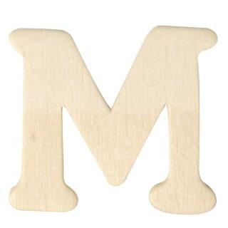 Holz-Buchstaben, 4 cm, M