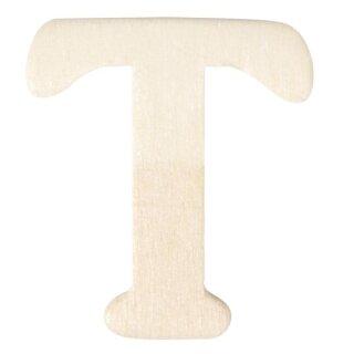 Holz-Buchstaben, 4 cm, T