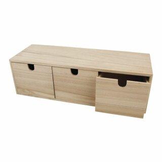 Holz-Kommode, mit 3 Schubladen, 37,5x13x11,5 cm