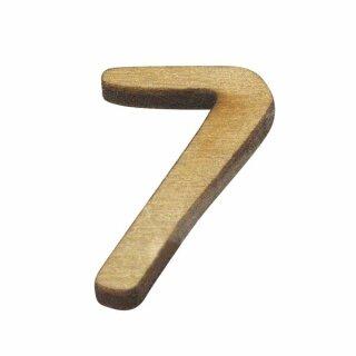 Holz-Zahl, 2 cm, 7