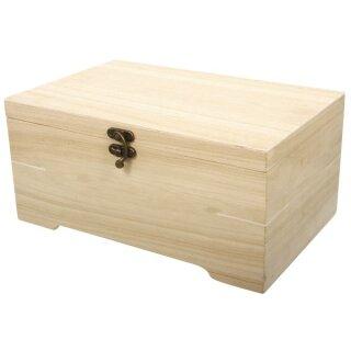 Holz Schatulle mit Einsatz, 2teilig, 28x18x13,5cm, 6 Fächer