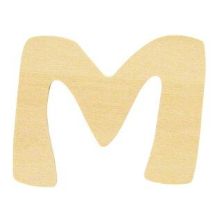 Holz- Buchstabe M,FSC Mix Credit, 6cm ø