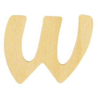 Holz- Buchstabe W,FSC Mix Credit, 6cm ø