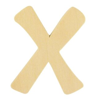 Holz- Buchstabe X,FSC Mix Credit, 6cm ø