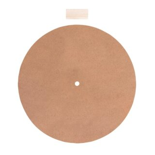 MDF Platte mit Loch ø 1,1cm, 30cm ø, m.Abstandshalter, f. Uhrwerk 89 301 00