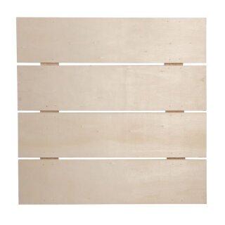 Holz-Lattenrahmen, FSC Mix Credit, 28,6x28,6x0,7cm, Tiefe:1,1cm, +2 Haken