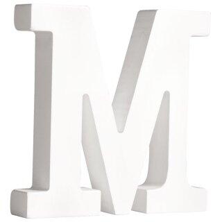 MDF- Buchstabe M, weiß, 11cm, Stärke 2cm