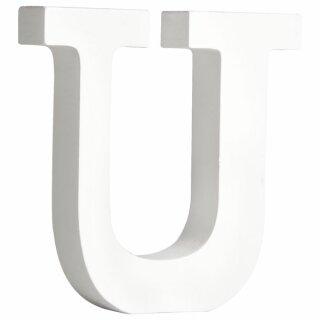 MDF- Buchstabe U, weiß, 11cm, Stärke 2cm