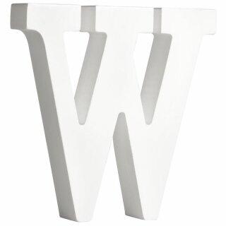 MDF- Buchstabe W, weiß, 11cm, Stärke 2cm
